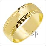 Snubní prsteny LSP 1820 žluté zlato