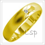 Snubní prsteny LSP 1821 žluté zlato