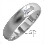 Snubní prsteny LSP 1823 bílé zlato