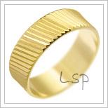 Snubní prsteny LSP 1825 žluté zlato