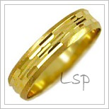 Snubní prsteny LSP 1826 žluté zlato