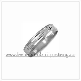 Snubní prsteny LSP 1826b bílé zlato