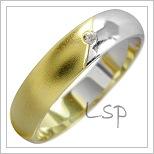 Snubní prsteny LSP 1827 kombinované zlato