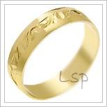 Snubní prsteny LSP 1829 žluté zlato