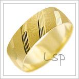 Snubní prsteny LSP 1832 žluté zlato