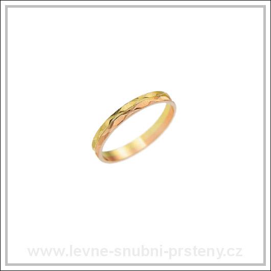 Snubní prsteny LSP 1833 kombinované zlato