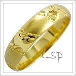Snubní prsteny LSP 1834 žluté zlato