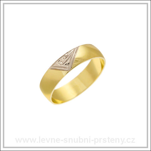 Snubní prsteny LSP 1837 kombinované zlato