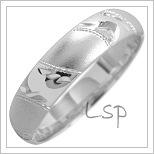 Snubní prsteny LSP 1838 bílé zlato