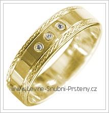 Snubní prsteny LSP 1839 žluté zlato