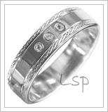 Snubní prsteny LSP 1839b bílé zlato