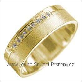 Snubní prsteny LSP 1841 žluté zlato