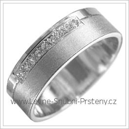 Snubní prsteny LSP 1841b bílé zlato