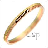 Snubní prsteny LSP 1842 kombinované zlato