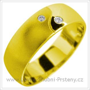 Snubní prsteny LSP 1843 žluté zlato