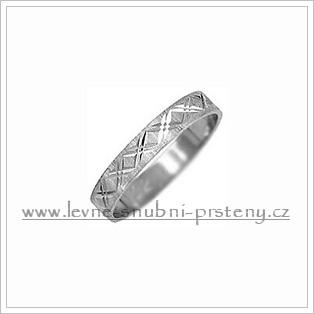 Snubní prsteny LSP 1844b bílé zlato