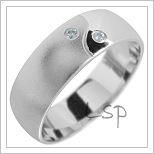 Snubní prsteny LSP 1845 bílé zlato
