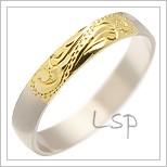 Snubní prsteny LSP 1847 kombinované zlato