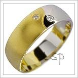 Snubní prsteny LSP 1848 kombinované zlato
