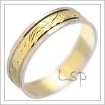 Snubní prsteny LSP 1849 kombinované zlato