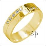 Snubní prsteny LSP 1850 žluté zlato