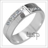 Snubní prsteny LSP 1850b bílé zlato