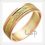 Snubní prsteny LSP 1851 kombinované zlato