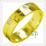 Snubní prsteny LSP 1852 žluté zlato