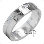 Snubní prsteny LSP 1852b bílé zlato