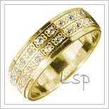 Snubní prsteny LSP 1853 žluté zlato