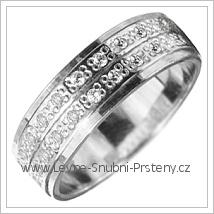 Snubní prsteny LSP 1853b bílé zlato