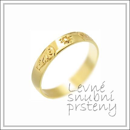 Snubní prsteny LSP 1856 žluté zlato