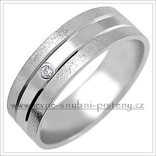 Snubní prsteny LSP 1857b bílé zlato