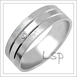 Snubní prsteny LSP 1857bz bílé zlato