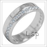 Snubní prsteny LSP 1859b bílé zlato