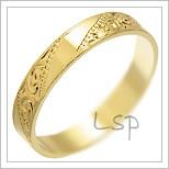 Snubní prsteny LSP 1860 žluté zlato