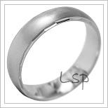 Snubní prsteny LSP 1861b bílé zlato