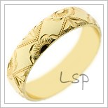 Snubní prsteny LSP 1862 žluté zlato