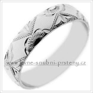 Snubní prsteny LSP 1862b bílé zlato