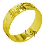 Snubní prsteny LSP 1864 žluté zlato