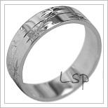 Snubní prsteny LSP 1864b bílé zlato