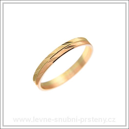 Snubní prsteny LSP 1865 kombinované zlato