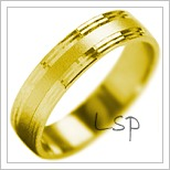Snubní prsteny LSP 1867 žluté zlato