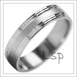 Snubní prsteny LSP 1867b bílé zlato
