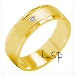 Snubní prsteny LSP 1868 žluté zlato