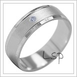 Snubní prsteny LSP 1868b bílé zlato