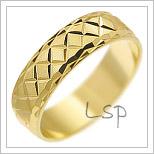 Snubní prsteny LSP 1869 žluté zlato