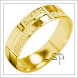 Snubní prsteny LSP 1870 žluté zlato