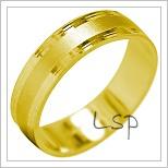 Snubní prsteny LSP 1873 žluté zlato