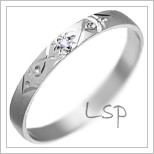 Snubní prsteny LSP 1874 bílé zlato